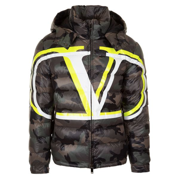 Valentino VLOGO Shadow Print Camouflage Down Jacket