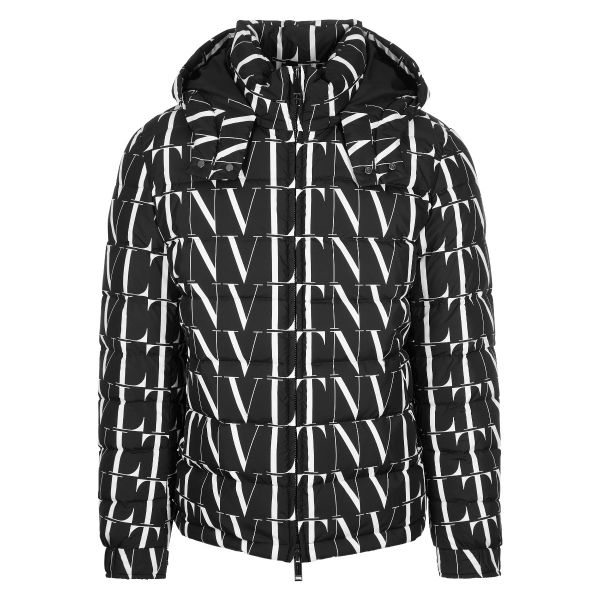 Valentino VLTN Print Quilted Hooded Jacket