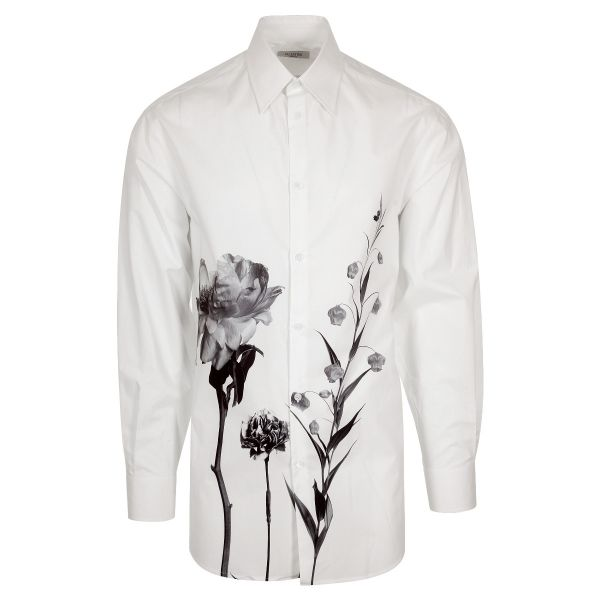 Valentino Rose Graphic Print Shirt