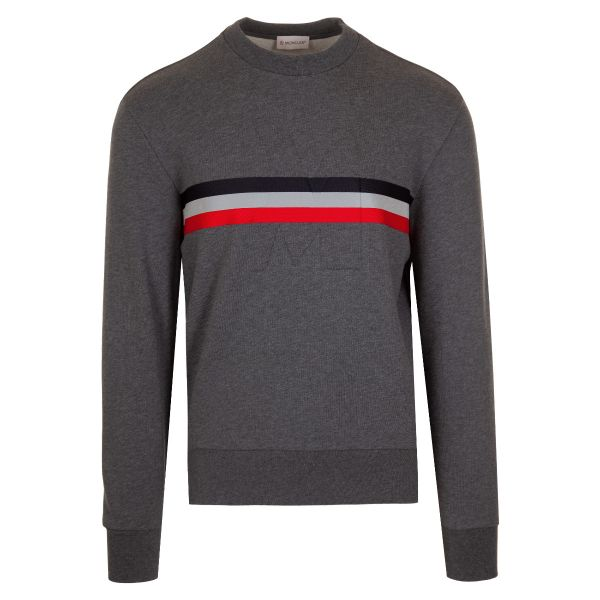 Moncler Embossed Logo Web Trim Sweatshirt