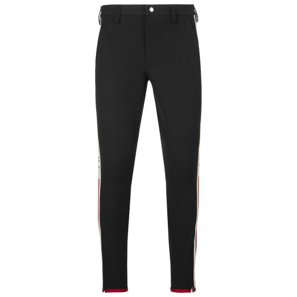 Gucci Logo Stripe Cotton Stretch Trouser
