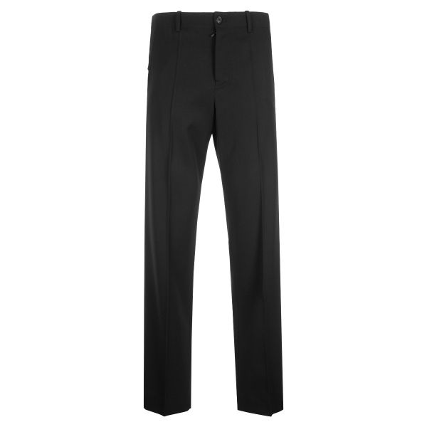 Loewe Flat Fronted Embroidered Logo Trousers
