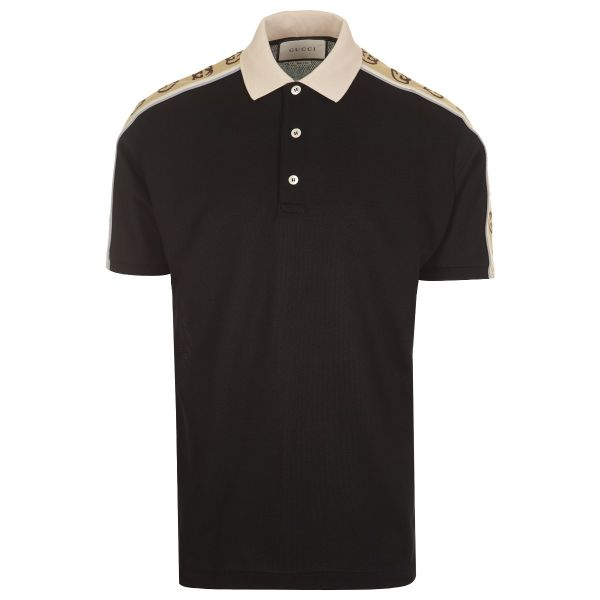 Gucci Side Logo GG Jacquard Polo