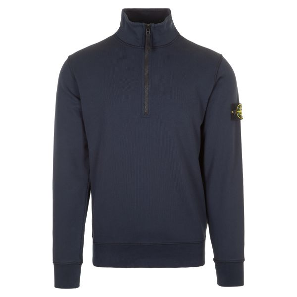 Stone Island Logo Patch Zip Up Sweatshirt