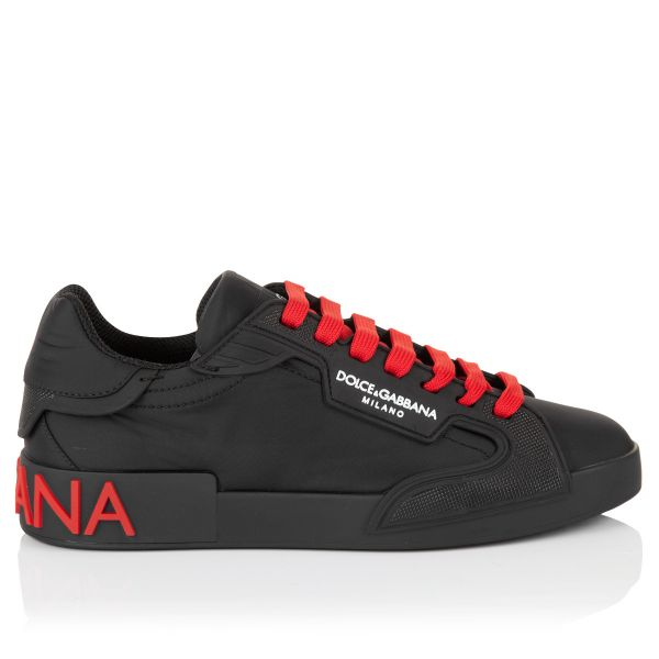 Dolce & Gabbana Logo Print Lace Up Sneakers