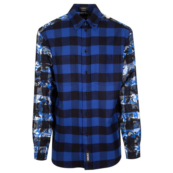 Versace Baroccoflage Accent Flannel Shirt