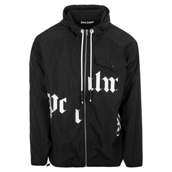 Palm Angels Broken Lettering Logo Windbreaker Jacket