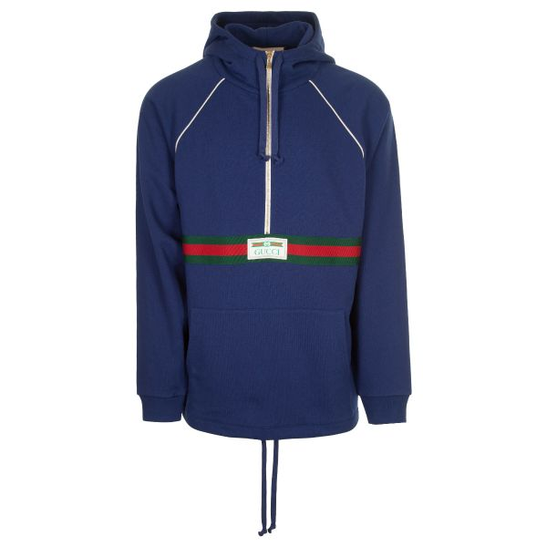 Gucci Oversized Logo Label Hoodie