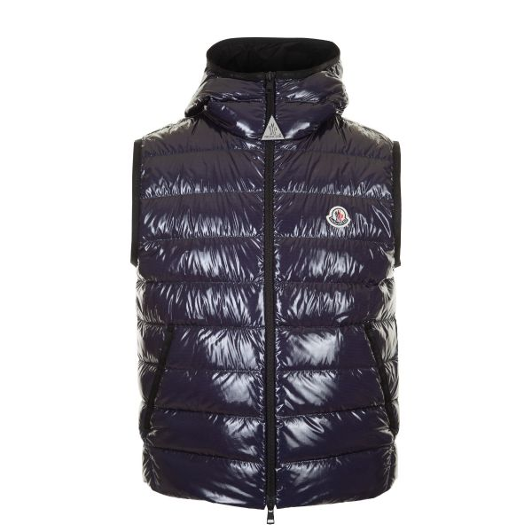 Moncler Lappe Quilted Hooded Down Gilet